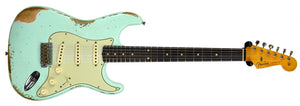 Fender Custom Shop 63 Stratocaster Heavy Relic in Surf Green R96972 - The Music Gallery