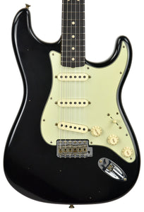 Fender Custom Shop 63 Stratocaster Journeyman Relic Black R97720 - The Music Gallery
