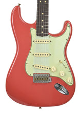 Fender Custom Shop 63 Stratocaster Journeyman Relic Fiesta Red R96941 - The Music Gallery