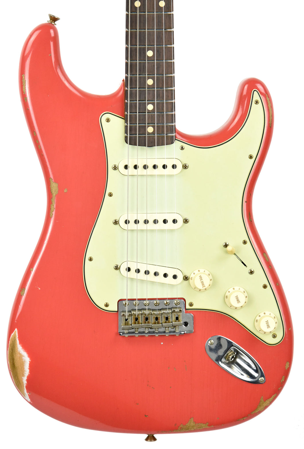 Fender Custom Shop 61 Stratocaster Relic Fiesta Red cz538552 - The Music Gallery