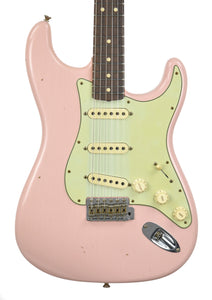 Fender Custom Shop 63 Stratocaster Journeyman Relic Shell Pink R96910