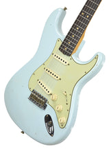 Fender Custom Shop 63 Stratocaster Journeyman Relic Sonic Blue R98660 - The Music Gallery