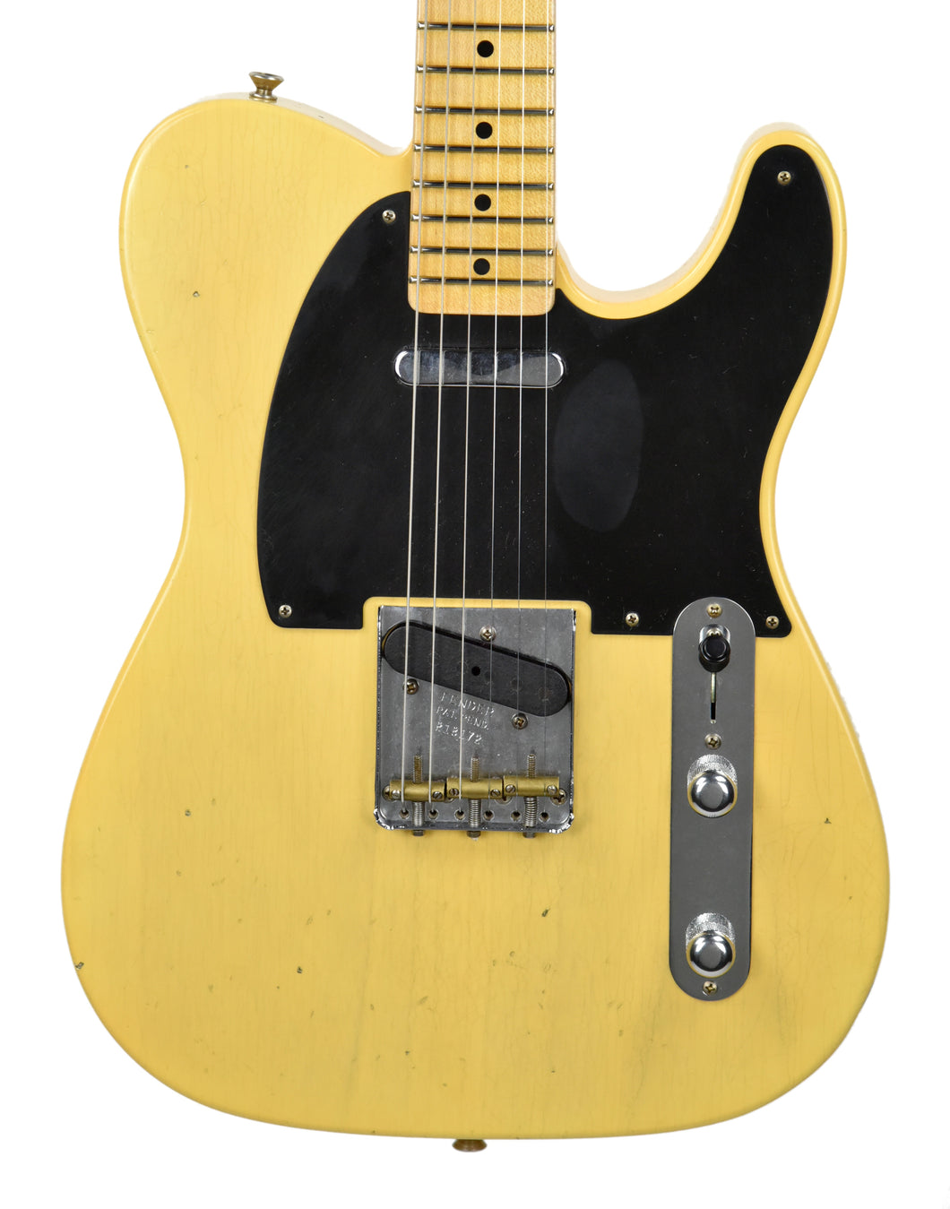 USED Fender Custom Shop 52 Telecaster Journeyman Relic Nocaster Blonde - The Music Gallery