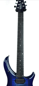 Music Man Majesty Monarch in Imperial Blue | Neck Front