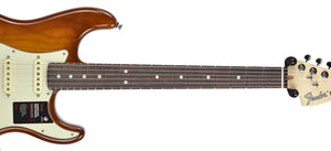 Fender American Performer Stratocaster in Honey Burst US19034466 | The Music Gallery | Neck Front