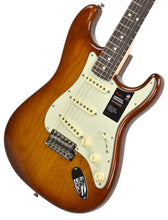 Fender American Performer Stratocaster in Honey Burst US19034466 | The Music Gallery | Front Angle 2