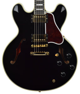 USED Gibson Custom Shop ES-335 MONO Limited Edition in Black B98050 | The Music Gallery | Front Close