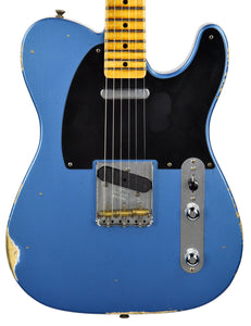 Used Fender Custom Shop 50s Tele Relic 1 Piece Ash in Lake Placid Blue R96386