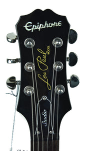 Epiphone Les Paul in Black - Headstock Front
