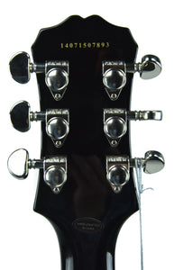 Epiphone Les Paul in Black - Headstock Back - THE MUSIC GALLERY