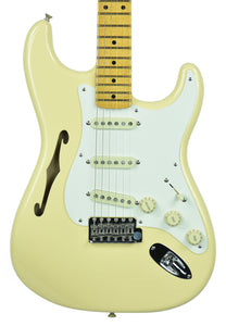 Fender® Eric Johnson Thinline Stratocaster in Vintage White | Front Small