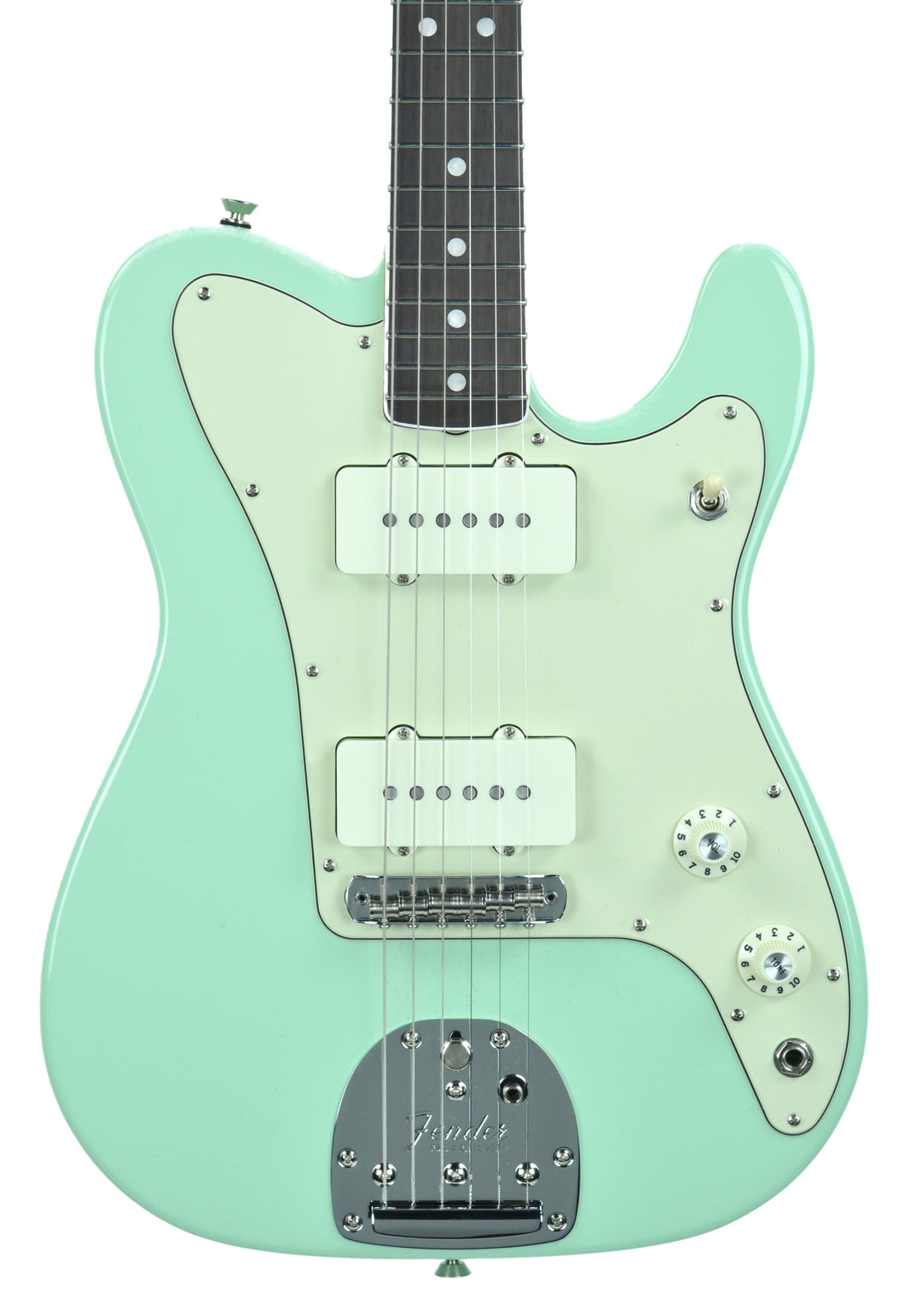 Fender® Parallel Universe Jazz Tele in Surf Green | Front Small