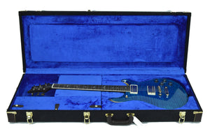 PRS McCarty 594 Wood Library in Aqua Marine - Case Open