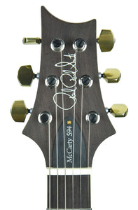 PRS McCarty 594 Wood Library in Aqua Marine - Headstock Front