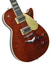 Gretsch G6228FM Players Edition Jet BT w/ V-Stoptail in Flame Maple Bourbon Stain | Front Left