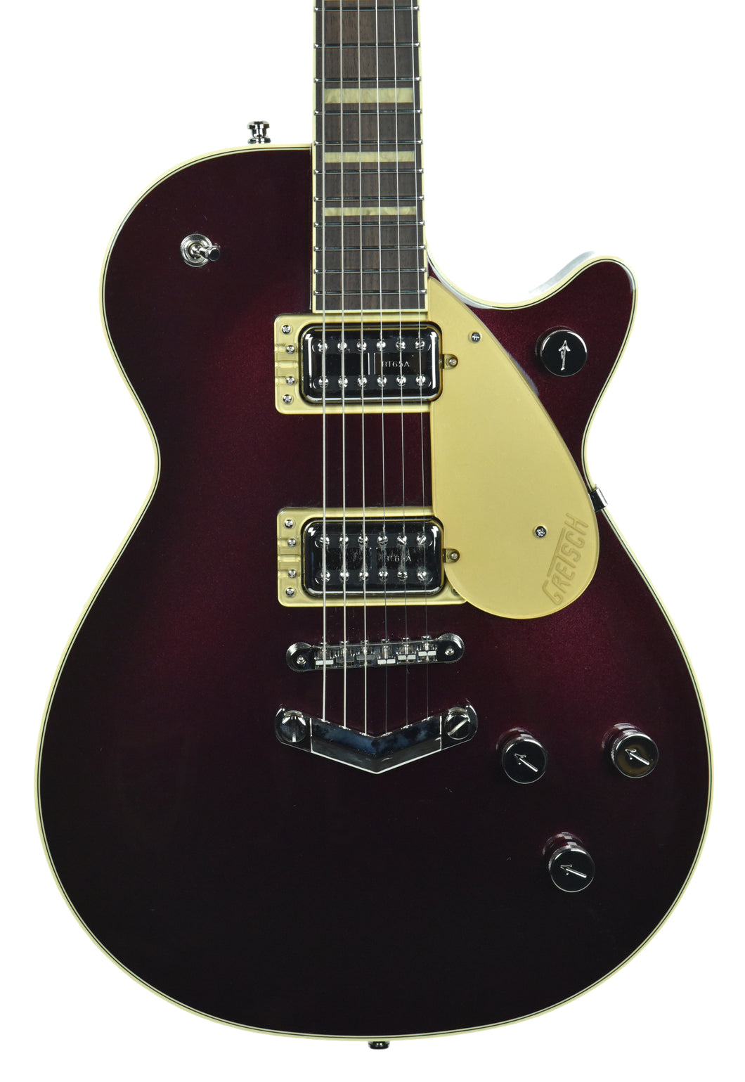 Gretsch G6228 Players Edition Jet BT w/ V-Stoptail in Dark Cherry Metallic | Front