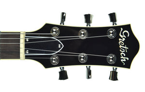 Gretsch G6228 Players Edition Jet BT w/ V-Stoptail in Dark Cherry Metallic | Headstock Front