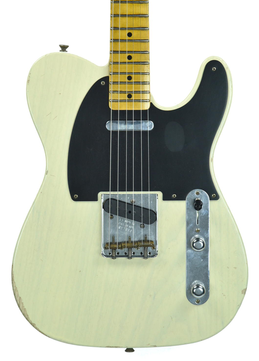 Fender® Custom Shop 1 Piece Ash 50s Telecaster Relic in Antique Blonde - Front