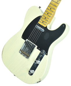 Fender Custom Shop 1 Piece Ash 50s Telecaster Relic in Antique Blonde - Front Right