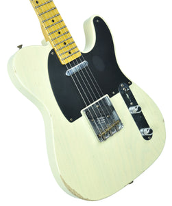 Fender® Custom Shop 1 Piece Ash 50s Telecaster Relic in Antique Blonde - Front Left