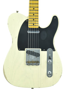 Fender Custom Shop 1 Piece Ash 50s Telecaster Relic in Vintage Blonde | Front Small | The Music Gallery