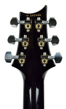 PRS Hollowbody II in Transparent Charcoal w/ Purple Binding - Headstock Back