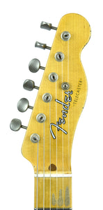 Fender Custom Shop 1 Piece Ash 50s Telecaster Relic in Vintage Blonde | Headstock Front