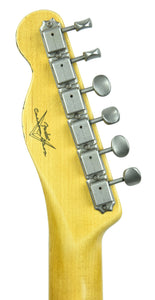 Fender Custom Shop 1 Piece Ash 50s Telecaster Relic in Vintage Blonde | Headstock Back