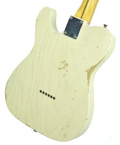 Fender® Custom Shop 1 Piece Ash 50s Telecaster Relic in Vintage Blonde SN R17943