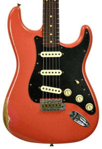 Fender Custom Shop Masterbuilt 62 Stratocaster Relic by John Cruz in Fiesta Red JC3553 | The Music Gallery | Front Close