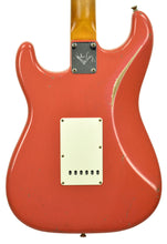 Fender Custom Shop Masterbuilt 62 Stratocaster Relic by John Cruz in Fiesta Red JC3553 | The Music Gallery | Back Close