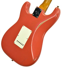 Fender Custom Shop Masterbuilt 62 Stratocaster Relic by John Cruz in Fiesta Red JC3553 | The Music Gallery | Back Angle 2