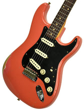 Fender Custom Shop Masterbuilt 62 Stratocaster Relic by John Cruz in Fiesta Red JC3553 | The Music Gallery | Front Angle 2