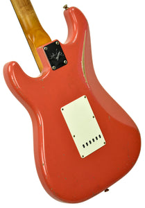 Fender Custom Shop Masterbuilt 62 Stratocaster Relic by John Cruz in Fiesta Red JC3553 | The Music Gallery | Back Angle 1