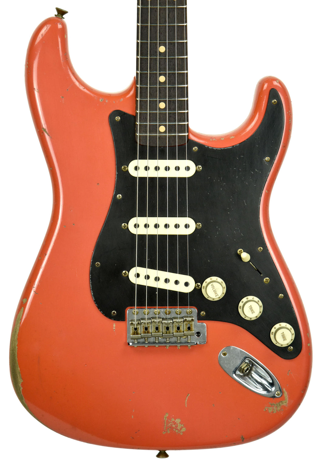 Fender Custom Shop Masterbuilt 62 Stratocaster Relic by John Cruz in Fiesta Red JC3554 | The Music Gallery | Front Close
