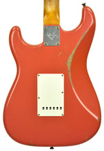 Fender Custom Shop Masterbuilt 62 Stratocaster Relic by John Cruz in Fiesta Red JC3554 | The Music Gallery | Back Close