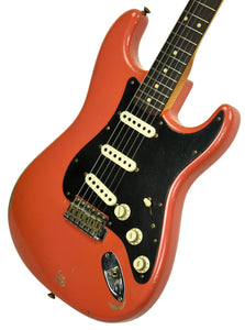 Fender Custom Shop Masterbuilt 62 Stratocaster Relic by John Cruz in Fiesta Red JC3554 | The Music Gallery | Front Angle 2