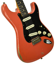 Fender Custom Shop Masterbuilt 62 Stratocaster Relic by John Cruz in Fiesta Red JC3554 | The Music Gallery | Front Angle 1