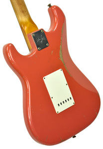 Fender Custom Shop Masterbuilt 62 Stratocaster Relic by John Cruz in Fiesta Red JC3554 | The Music Gallery | Back Angle 1