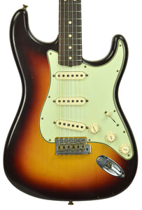 Fender Custom Shop 63 Stratocaster Journeyman Relic in Chocolate 3 Tone Sunburst R98626