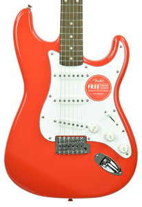 Squier Affinity Stratocaster Electric Guitar in Race Red CY200300965 - The Music Gallery