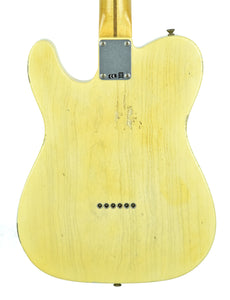 Fender® Custom Shop 1 Piece Ash 50s Telecaster Relic Faded Nocaster Blonde - Back