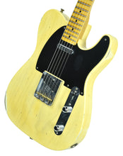 Fender® Custom Shop 1 Piece Ash 50s Telecaster Relic Faded Nocaster Blonde - Front Right