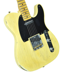 Fender Custom Shop 1 Piece Ash 50s Telecaster Relic Faded Nocaster Blonde - Front Left
