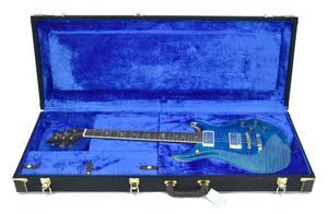 PRS Wood Library McCarty 594 in Aqua Marine - Case Open