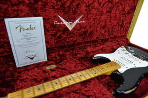 Fender Custom Shop 1956 Active Strat Relic Masterbuilt by Todd Krause in Black R98608