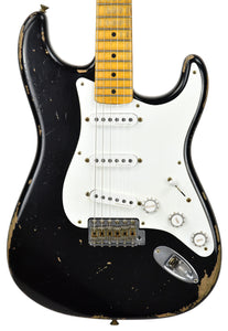 Fender Custom Shop 1956 Active Strat Relic Masterbuilt by Todd Krause in Black R98608 - The Music Gallery