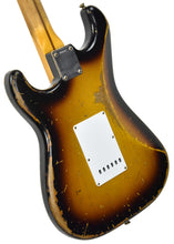 Fender Custom Shop Masterbuilt 1956 Active Stratocaster Relic Todd Krause Two Tone Sunburst R98607 - The Music Gallery