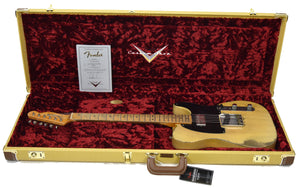 Fender Custom Shop 51 Telecaster Heavy Relic Masterbuilt by Dale Wilson Faded Nocaster Blonde R97330 | The Music Gallery | Open Case