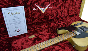 Fender Custom Shop 51 Telecaster Heavy Relic Masterbuilt by Dale Wilson Faded Nocaster Blonde R97330 | The Music Gallery | Certificate